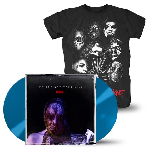We Are Not Your Kind Group Photo (Ltd. Coloured LP + T-Shirt Bundle) von Slipknot - LP Bundle jetzt im Slipknot - Shop Shop