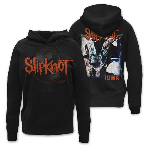 Iowa Album Cover von Slipknot - Girlie Kapuzenpullover jetzt im Slipknot - Shop Shop